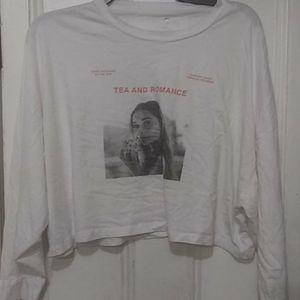 Cotton on long sleeve cropped top